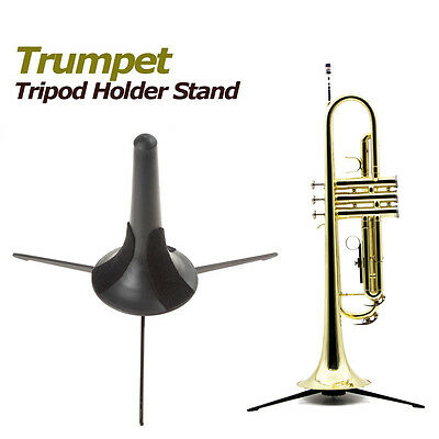 Portable Trumpet Tripod Holder Stand with Detachable and Foldable Metal Leg