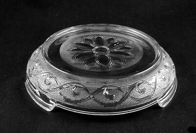 """Hocking Crystal """"SANDWICH"""" Punch Bowl Stand-"""