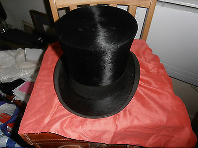 1930s Lincoln Bennett & Co  Black Silk Top Hat size 7 1/8
