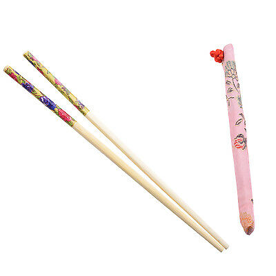 10 Pairs Chinese Bamboo Chopsticks Reusable Safety ED