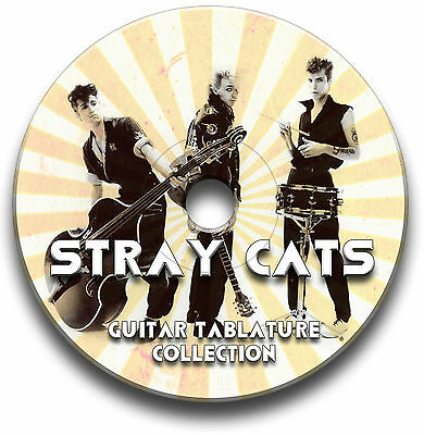 Stray Cats Rockabilly Rock Guitar Tabs Tablature Song Book Cd