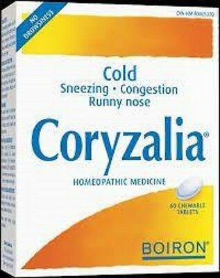 Boiron Coryzalia 40 tabs.- NATURAL HOMEOPATHIC RELIEF FOR COMMON COLD, RHINITIS