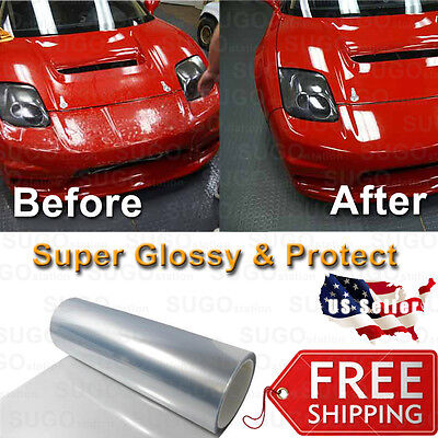 "Pro Clear Bra Wrap Vinyl Guard Sheet Film Paint Protection 60/"" x 12/"" Mitsubishi"