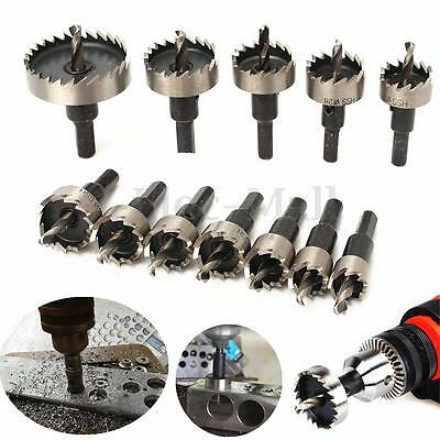 12PC Hole Saw Tooth Kit HSS Steel Drill Bit Set Cutter Tool For Metal Wood Alloy