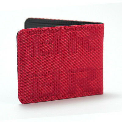 BRIDE Seat Gradation Logo Wallet Custom Stitched Leather Racing Super Cool Red