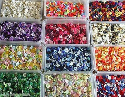 50g to 1000g  ASSORTED MIXED BUTTONS ARTS CRAFTS VARIOUS COLOURS