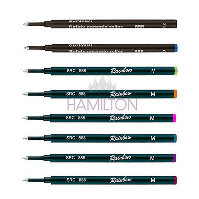 SCHMIDT 888 LARGE ROLLERBALL PEN REFILL - 8 colours available with various tips.