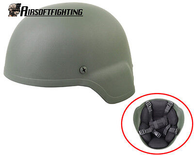 Airsoft Tactical MICH 2000 Plastic Helmet TypeB Paintball Hunting Olive Drab