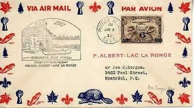 CANADA 1ers vols first flights airmail 169