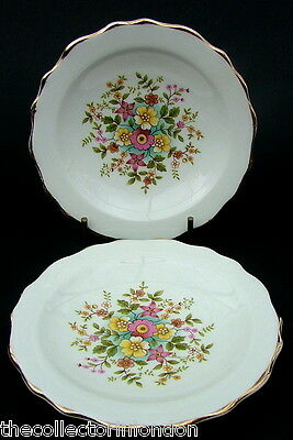 TWO Royal Stafford Summer Flowers Mint or Bon Bon Dishes 11.5cm Dia Look in VGC