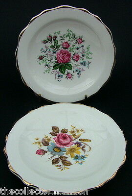 TWO Royal Stafford Summer & Autumn Roses Mint or Bon Bon Dishes 11.5cm in VGC