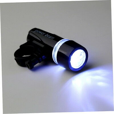 New Black Bike Bicycle 5 LED Power Beam Front Head Light Torch Lamp AG
