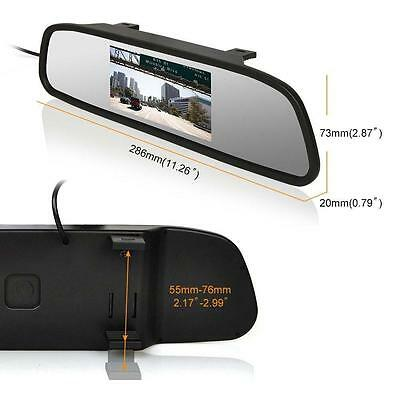 """4.3"""" TFT LCD Color Monitor Car Reverse Rear View Mirror for Backup Camera hot TR"""