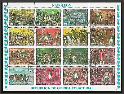 Equatorial GUINEA 1977 History of Napoleon minisheet 16 Stamps n° 1165-1180