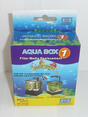 Fish R Fun Aqua Box 1 Filter Media Replacement for Old/New FRF 1919 & 1F1 Filter