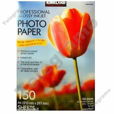 New Kirkland 150 Professional A4 Glossy Inkjet Photo Paper