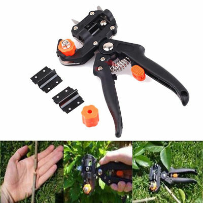 New Black Professional Nursery Grafting Tool Pruner Knife With 2 Extra Blades