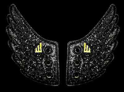 SHWINGS BLACK Sparkle wing wings for shoes official designer Shwings NEW 10701