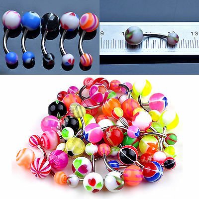 COOL Wholesale Lots 30pcs 14G Belly Button Navel Ring Piercing Jewelry