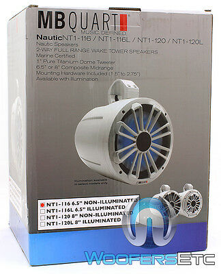 "Mb Quart Nt1-120 8"" 2-Way Wake Tower Marine Boat Speaker (Sold Individually) New"