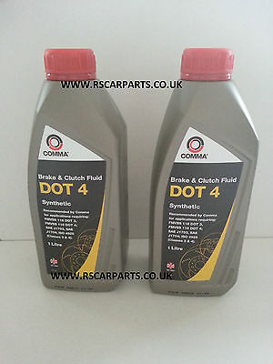 COMMA - Dot 4 Synthetic Brake And Clutch Fluid 2 Litre - BF41L