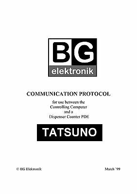 Tatsuno Communication Protocol For Dispenser Counter Pde