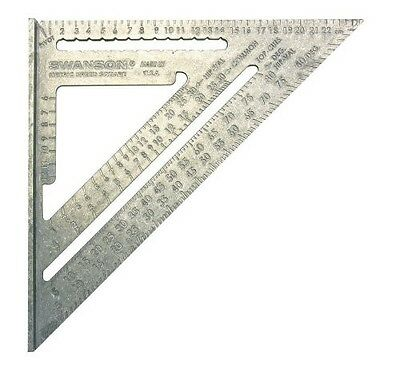 Swanson Metric Speed Square (Aluminum) Wood Construction Measuring Tool na202