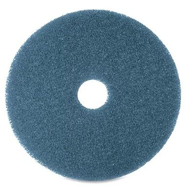 """11"""" Blue Floor Cleaning Maintenance Pads Box of 5"""