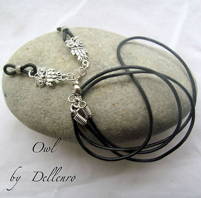 ✫Leather & Owl✫ Eyeglass Glasses Spectacle Chain Holder  Cord