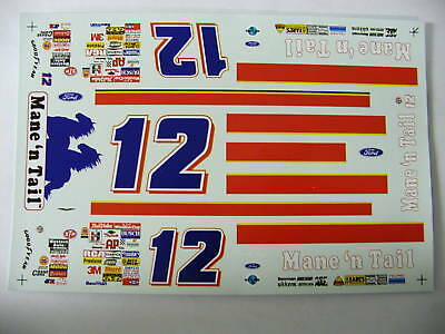 #12 Mane 'n Tail T-Bird Derike Cope decals