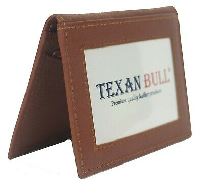 Genuine leather slim bifold credit card ID holder mens wallet TAN 42TN by Bullz
