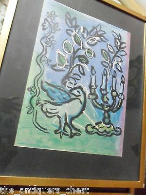 "Marc Chagall Lithograph ""Le Chandelier"", # 366 from ""Windows of Jerusalem""[art]"