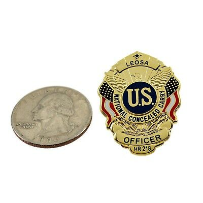 LEOSA Police Officer HR218 Mini Badge Lapel Pin Concealed Carry Permit CCP CWP