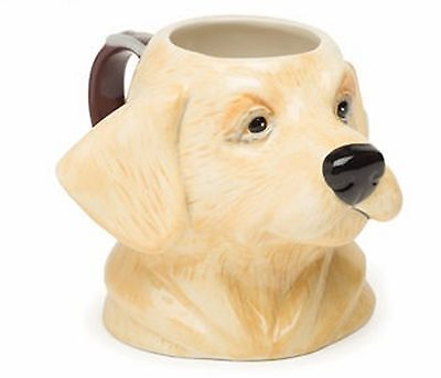 Labrador Dog Ceramic Java Mug - Yellow Lab - Big Sky Carvers