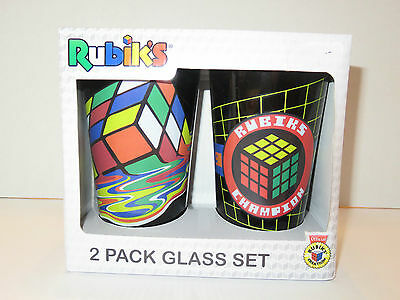 BNIB 2 glass set - Rubik's Cube