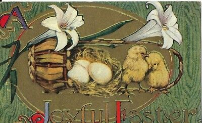 Baby Chicks Postcard Easter Early 1900S