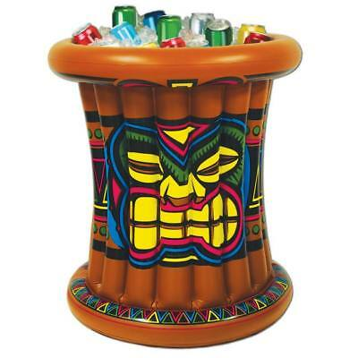 "Luau Party Tiki Inflatable Cooler 25"" x 25"" Holds 24 12 oz Cans"