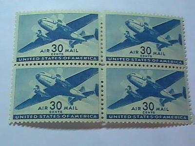 U.s. # C30-Mint/never Hinged---***air-Mail***--- Block Of 4----Blue----1941
