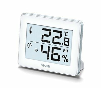 Beurer Hm16 Thermo Hygrometer Silver Home Household Supplies New