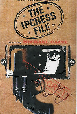 IPCRESS FILES personally signed 12x8 - MICHAEL CAINE