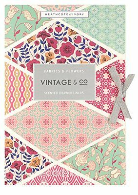Vintage & Co Fabric & Flowers Scented Drawer liners Pack of 6