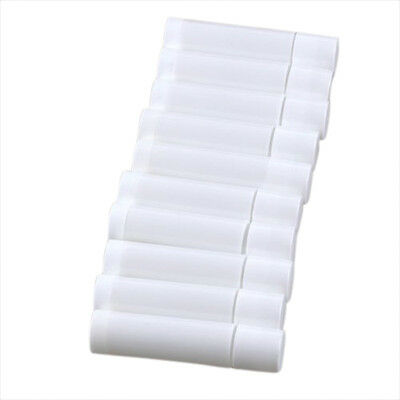 100 White Empty Lip Balm Tubes Containers ED