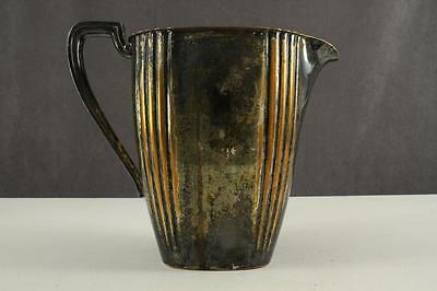 Vintage Tableware Silverplate on COPPER Drink Pitcher EPC 103C Ribbed Bands 1935