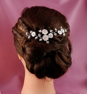 Gorgeous Hair Vine Using Swarovski Crystals Flowers & Pearls Accessory Adornment
