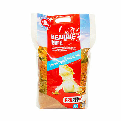 ProRep Reptile Beardie Life Substrate, 10kg Bearded Dragon Vivarium Bedding
