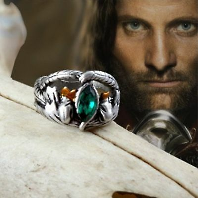 Lord Of The Rings Aragorn's Ring of Barahir Crystal Ring LOTR Size 9 R3/4 R¾