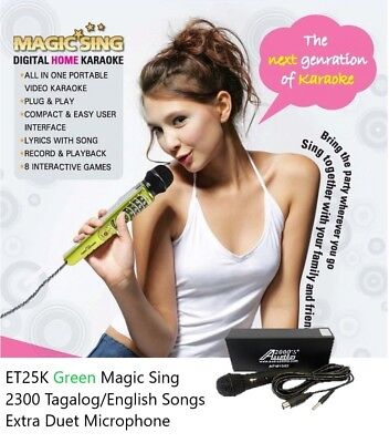 NEW MAGIC SING ET25K 2300 Tagalog English Songs Free Bag & DUET MICROPHONE