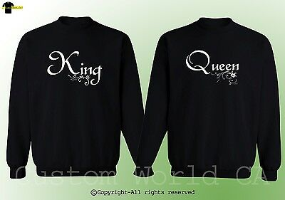 Couple Crewneck - King & Queen His and Hers New Design Couple Matching Clothes