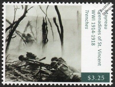 WWI Trench Warfare: US Army 23rd Infantry Regiment Firing 37mm Gun Stamp