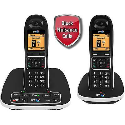 BT 7600 Twin Black Digital Cordless Answer Phone with Nuisance Call Blocker